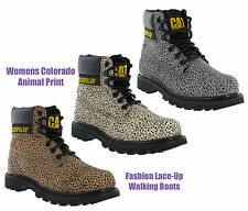 Cat Caterpillar Colorado Cuero Estampado Leopardo Moderno Botines de Mujer UK3-8
