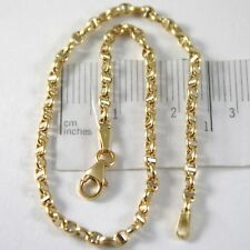 PULSERA ORO AMARILLO O BLANCO 750 18 CT,19 CM MARINARA TRAVESAÑO MADE IN ITALY