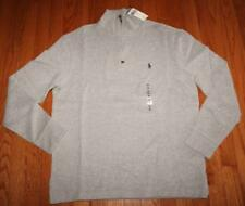 NEW NWT Polo Ralph Lauren Men's 1/4 Zip Grey Pullover Sweater $98 PONY LOGO *F3