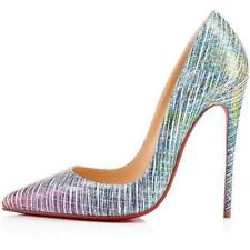 Christian Louboutin SO KATE 120 Suede Unicorn Pumps Heels Shoes Multi $775