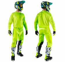 Troy Lee Designs Gp Air Combinata 50/50 Giallo Neon Pantaloni Camicia Enduro