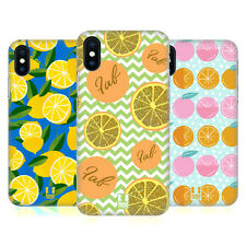 HEAD CASE DESIGNS PATTERN AGRUME COVER RETRO RIGIDA PER APPLE iPHONE TELEFONI
