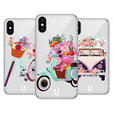 HEAD CASE DESIGNS RUOTE E FLOREALI COVER RETRO RIGIDA PER APPLE iPHONE TELEFONI
