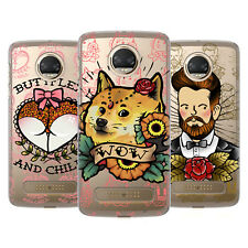 HEAD CASE DESIGNS TATUAGGI DIVERTENTI COVER RETRO RIGIDA PER MOTOROLA TELEFONI 1