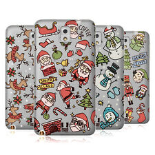 HEAD CASE DESIGNS DOODLES NATALE COVER MORBIDA IN GEL PER SAMSUNG TELEFONI 2