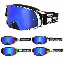 Two-X Rocket Schiacciare Occhiali da Cross Maschere Mx Motocross Dh Enduro Blu