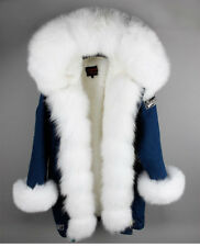 Genuine women real fox Vulpes fur collar, cuffs, plankets with faux lining