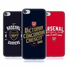 OFFICIAL ARSENAL FC 2018/19 TYPOGRAPHY SOFT GEL CASE FOR APPLE iPOD TOUCH MP3