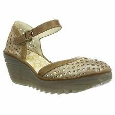 Fly London Yadu 732 Luna Camel Womens Closed toe Wedge Sandals New