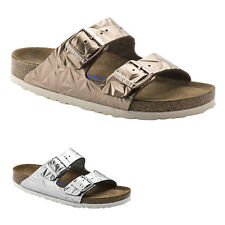 Birkenstock Arizona Soft Footbed Embossed Leather Womens Mens Unisex Sandals