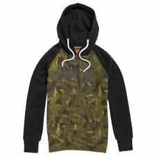 Superdry Sweat Shirt Shop Camo Raglan Hood Negro , Sudaderas Superdry , moda
