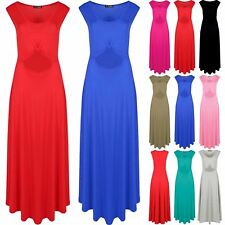 Womens Ladies Sleeveless Waist Knot Cut Out Detail Party Swing Skater Midi Dress