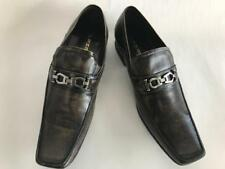 New Fiesso Brown Slip On Leather Dress Shoes FI 6250