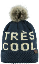 Barts Cappello da Donna Ashley Beanie Taglia Unica Statement - Blu Marino, Crema