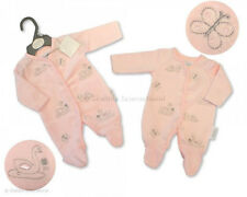 """PREMATURE EARLY BABY GIRL VELOUR """"SWAN"""" ALL IN ONE SLEEPSUIT - 3-5lb, 5-8lb"""