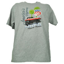 Route 66 Re di Paradise Highway Runners Americas Strada Grigio Uomo T-Shirt