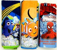 2 x Pack of Disney Pixar DORY NEMO Spider-Man Colour Change Flannel / Face Cloth