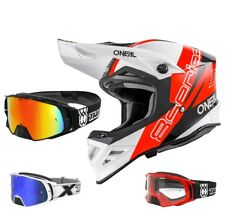 Oneal 8Series Nano Casco da Cross Motocross Mx Two-X Rocket Occhiali