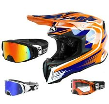 Airoh Casco da Cross Torsione Mx Motocross Mix Arancione Two-X Rocket Occhiali