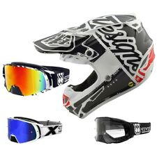 Troy Lee Design SE4 Factory Mips Casco da Cross Enduro Bianco Two-X Rocket