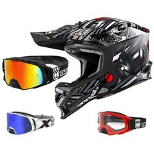 Oneal 8Series Synthy Casco da Cross Motocross Nero Two-X Rocket Occhiali