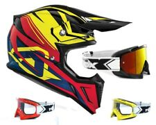 Acerbis Casco Cross Perfil 2.0 Powerhead Negro Rojo Motocross con Two-X Gafas