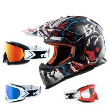 LS2 Casco da Cross MX437 Quasi Bestia Nero Bianco Enduro Two-X Occhiali Racing