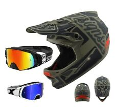 Troy Lee Designs D3 Casco MTB Factory Fibra Verde Grau Two-X Rocket Dh Occhiali