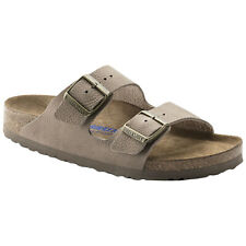 Birkenstock Arizona Soft Footbed Nubuck Womens Mens Slides Unisex Sandals