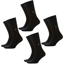 Burlington 8 Par Calcetines Hombre Everyday,Liso Calcetines,Onesize 40-46