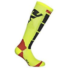 Sixs Motorcycles And Sking Socks Yellow Fluo / Black Carbon , Calze Sixs