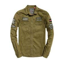 Superdry Rookie Patch Military Shirt Dark Khaki , Bluse e camicie Superdry