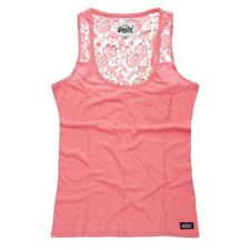 Superdry Super Sewn Lace Vest Negro , Camisetas Superdry , moda , Ropa Mujer