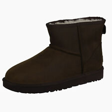 UGG Women's Classic Mini Leather 1016558 Boots Shoes Chestnut