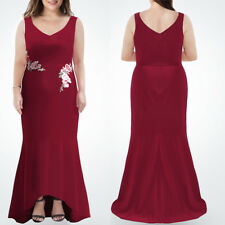 Ever-pretty Long Burgundy Evening Gowns Mermaid Formal Party Dresses Plus Size