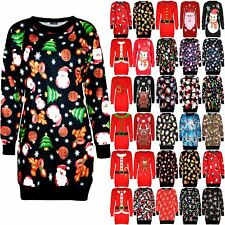 Womens Ladies Sweatshirt Snowman Carrot Nose Muffler Xmas Fleece Jumper Dress