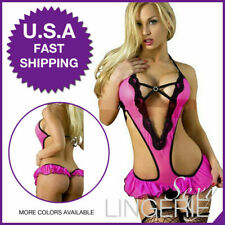 Sexy-Lingerie-Sleepwear-Women-G-string-Robe-Lace-Underwear-Babydoll-Nightwear US