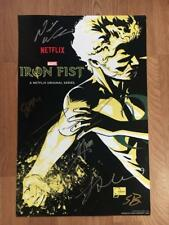 IRON FIST SIGNED CAST POSTER SDCC NETFLIX FINN JONES COMIC CON NYCC