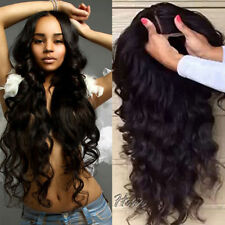 Free Ship  Glueless Lace Front Full Hair Human Wig Long Wave Wigs With Baby Hair