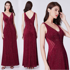 Ever-pretty Long Burgundy Gowns Formal Cocktail Dresses Evening Prom Gowns 07439