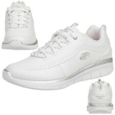 Skechers Synergy 2.0 Mujer Zapatos para Fitness Air Cooled Memory Foam Blanco