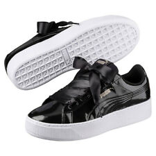 b681e85fcfd612 Puma Vikky Platform Ribbon P Sneaker Women s Shoes 366419 01 Black