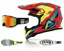 Acerbis Casco Cross Impact Kryptonite Rojo Amarillo Neon Mx Enduro & Two-X Bomba