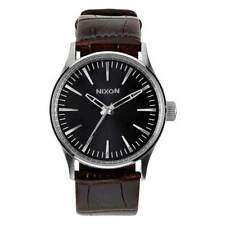 Nixon Sentry 38 Leather Brown Gator , Orologi Nixon , moda , Accessori Uomo