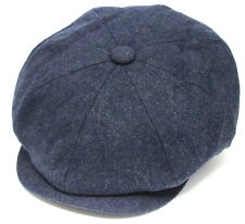 Tommy Shelby Peaky Blinders Cap Newsboy BLUE Hat Quality 100% Wool Series 5