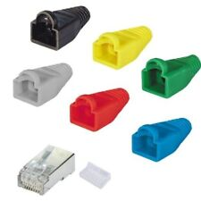 RJ45 Enchufe CAT5e Blindado Modular Crimp Cable Parche Red Lan Cable Negro