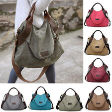 Women's Canvas Handbag Shoulder Bags Large Tote Purse Travel Messenger Hobo Bag