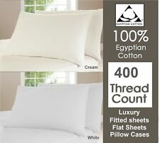 400 Thread Count Egyptian Cotton Duvet Cover Set/Fitted Sheets/Flat Sheets (263)