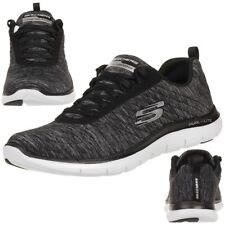 Skechers Flex Appeal 2.0 Mujer Zapatos para Fitness Light Weight Negro Bkw