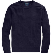 Polo Ralph Lauren Mens Cashmere Knit Navy Washable Crewneck Sweater NWT Size XL